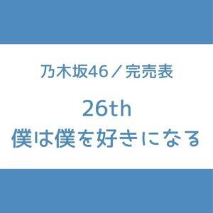 乃木坂 完売表 26th 僕は僕を好きになる